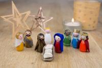 Miniatuur kerstgroep