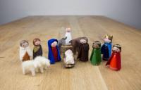 Peg doll kerstgroep